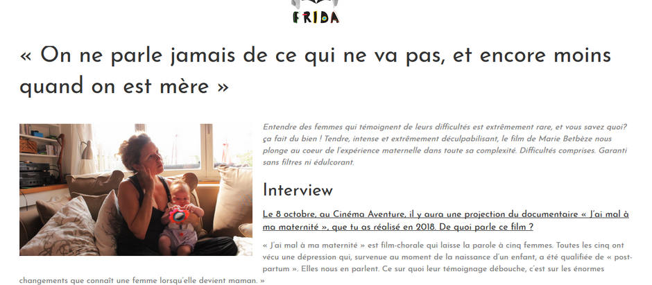 Article de Frida sur le film