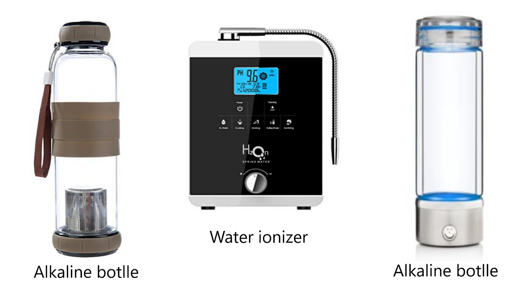 water ionizer machine & bottle