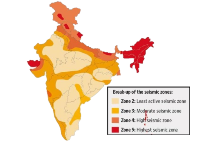 Seismic zones of India