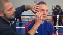 Vincent Michaux, en finale des Championnats de France Technique de Savate Boxe Française 2017