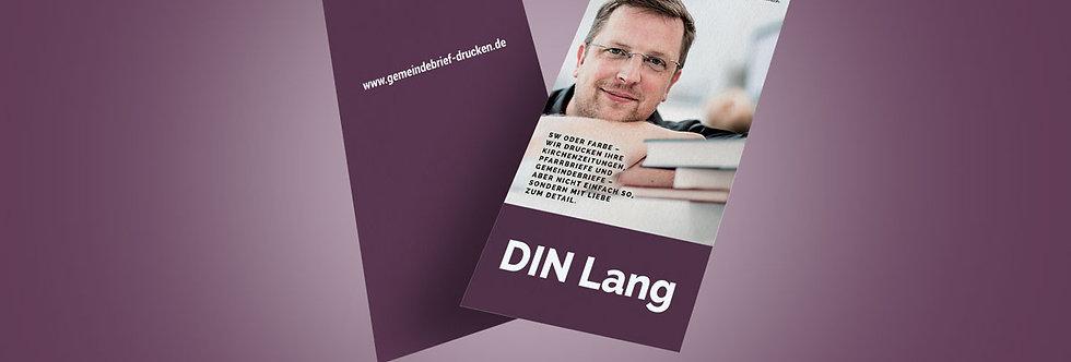 Handzettel / Flyer DIN Lang