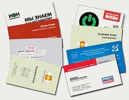 Визитные карточки, шелкография