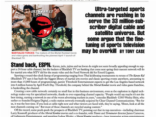 Ultra-targeted sports channels are rushing in to serve the 33 million-subscriber digital cable and s