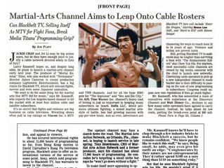 Martial-Arts Channel Aims to Leap Onto Cable Rosters