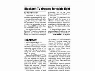 Blackbelt TV dresses for cable fight