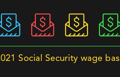 "The 2021 ""Social Security wage base"" is increasing"