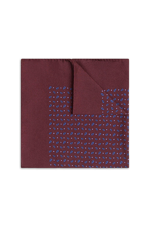 Pocket Square -Burgundy Red