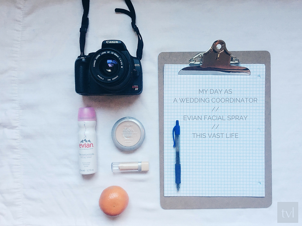 A day as a wedding coordinator with Evian Facial Spray // This Vast Life