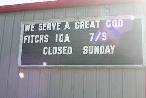 Fitch's IGA serves the residents of Wilmore, boasting groceries and a deli
