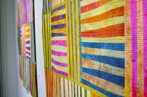 The UNESCO art exhibit features works from around the globe
