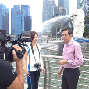 Filming for Fuji TV Japan