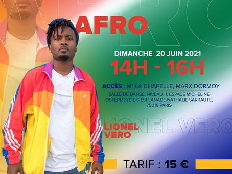 Dimanche 20 juin :  Afrodance workshop by Lionel Vero de Invictus Crew !