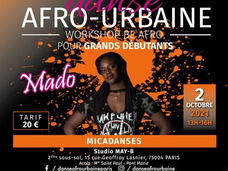 Samedi 2 octobre 21, stage BE AFRO spécial grands débutantts