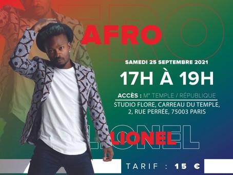 Samedi 25 septembre: stage d'afrodance au Carreau du Temple avec Lionel Vero !