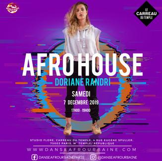 flyer Doriane afrohouse 7 dec Cdt facebo