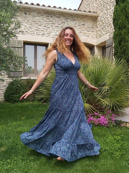 Robe Leia bleue