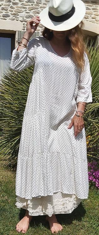 Robe Mum blanche