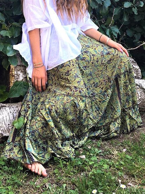 Jupe Esmeralda marron vert