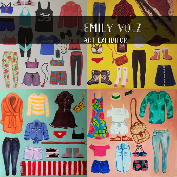 Emily Volz drawings and paintings