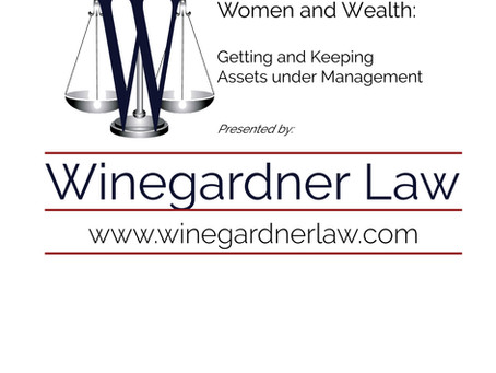Estate Planning:  Women and Wealth