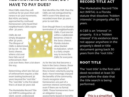 Your Florida HOA:  Spotlight on Expired C&RS