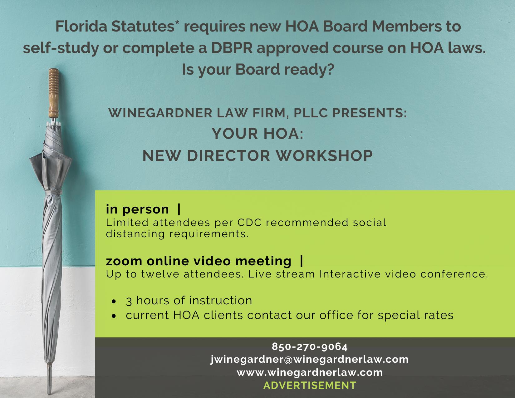 Your HOA: New Member Workshop