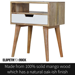 Crafted from 100% solid mango wood which