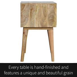 Every bedside cabinet is hand-finished a