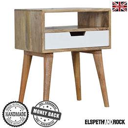 Scandinavian Style Solid Wood Bedside Ta