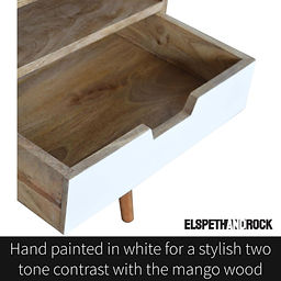 Hand painted Bedside Cabinet for Scandi