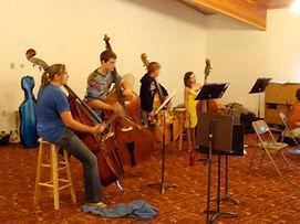 String Retreat Bass choir with Ms. Kate Mathews