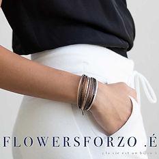 Flowers For Zoe, Bijouterie Saumur, Bracelet cuir