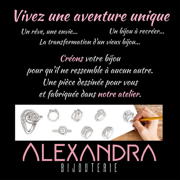 Bijoux sur mesure, creation