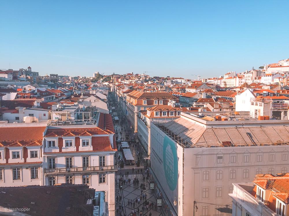 Aerial view of the Rua Augusta shopping street