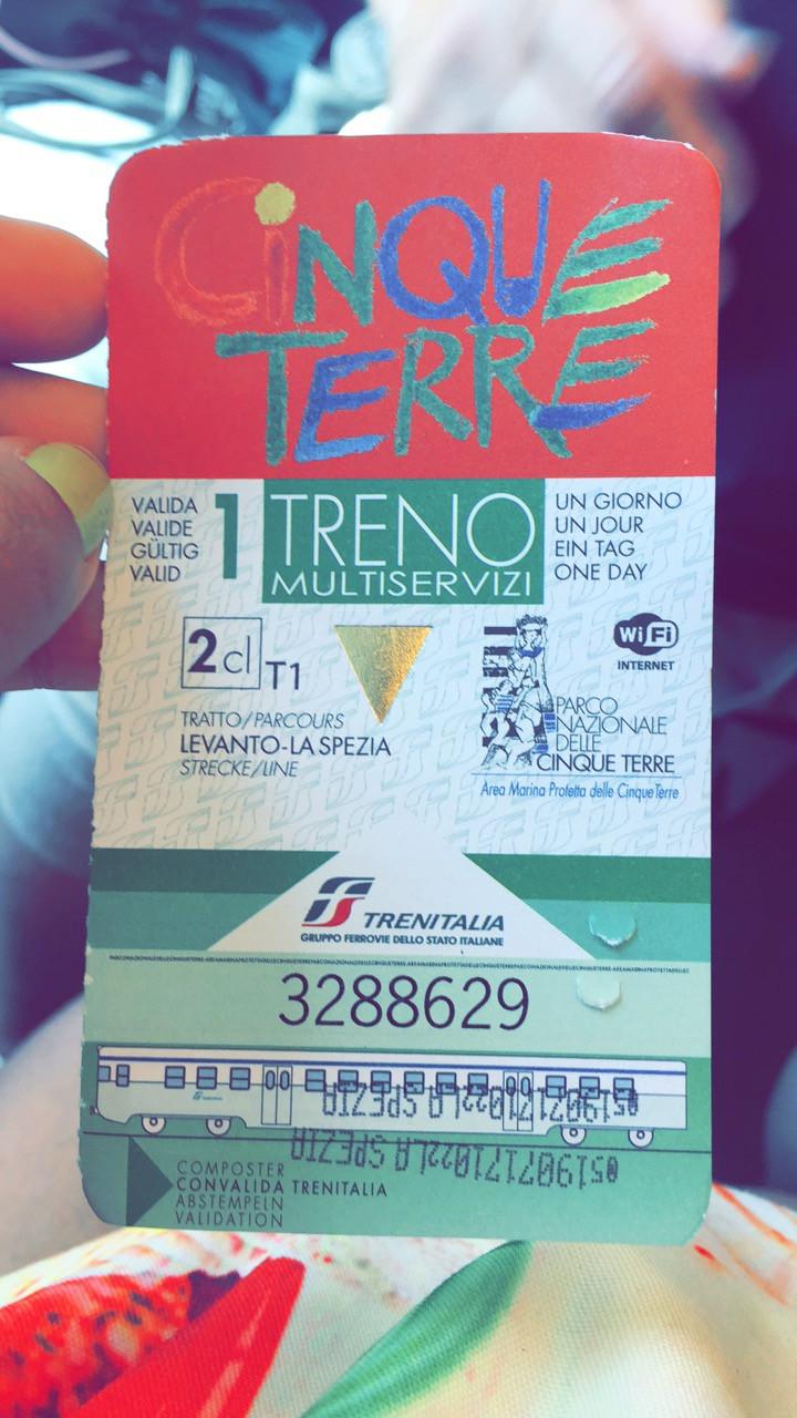 Cinque Terre Treno Card