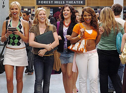 an ode to early 2000's rom-com fashion