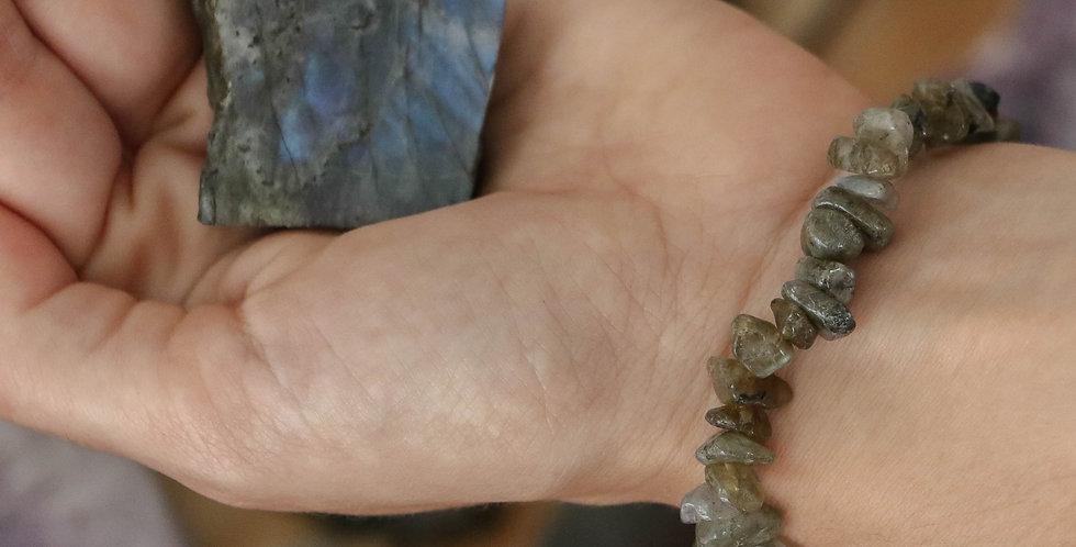 Pulseira Labradorite Cascalho