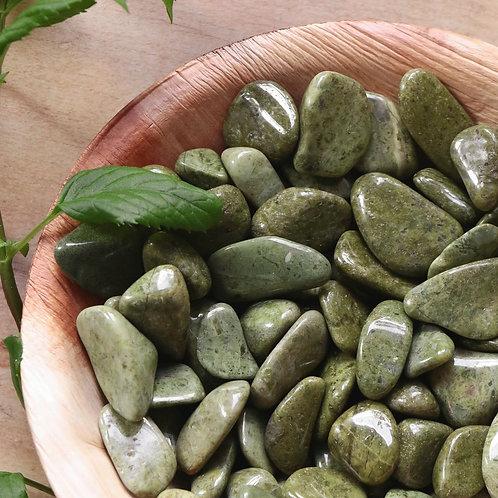 Verdelite (Turmalina Verde) Rolada