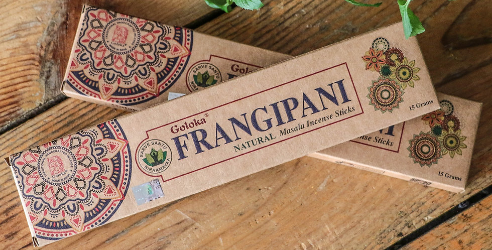 Incenso Goloka Frangipani 15g