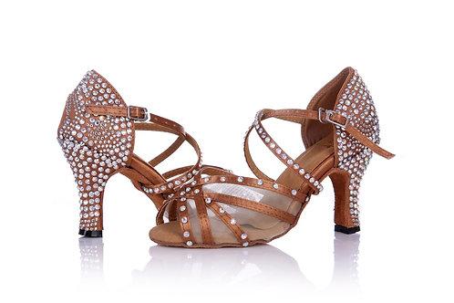 Tan T-Strap, 3 inch heel