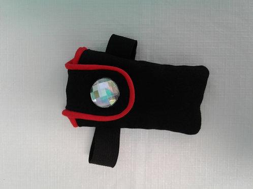 Liz Lira black wallet with red lining