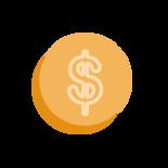 Yellow Dollar Coin