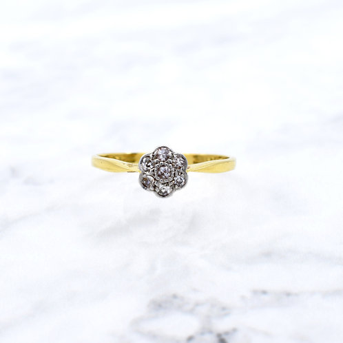 Art Deco 1920's Daisy Diamond Ring