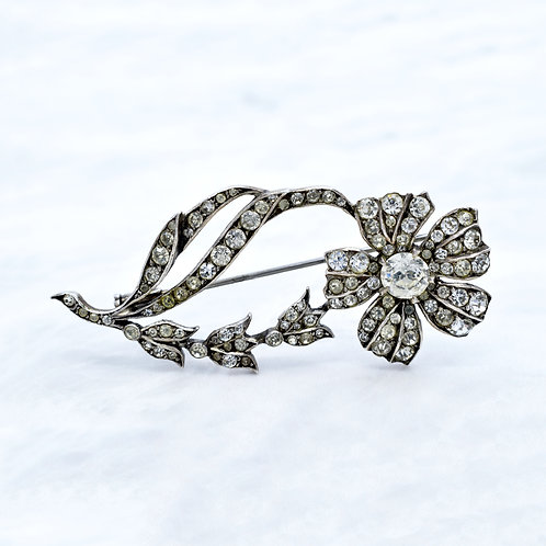 French Antique, Flower Paste Brooch