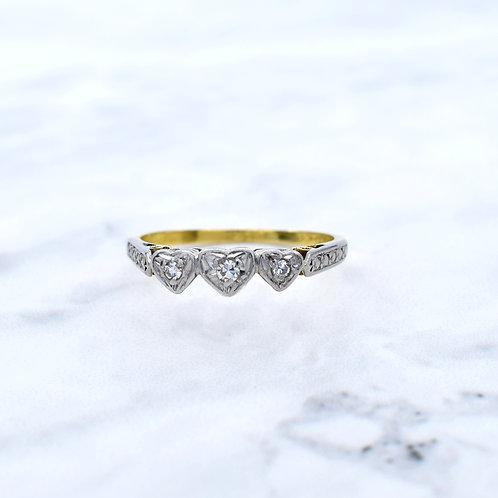 Art Deco18ct Gold & Platinum Diamond Ring