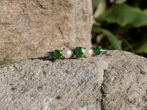 Light Green/Pearl Stock Pin (5 row)
