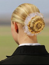 Scrunchie with Gold Trim