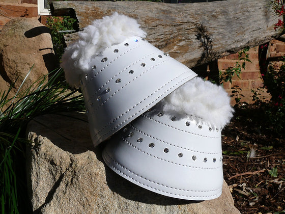 Bling Bell Boots- White