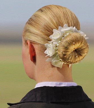Rose Scrunchie- Cream