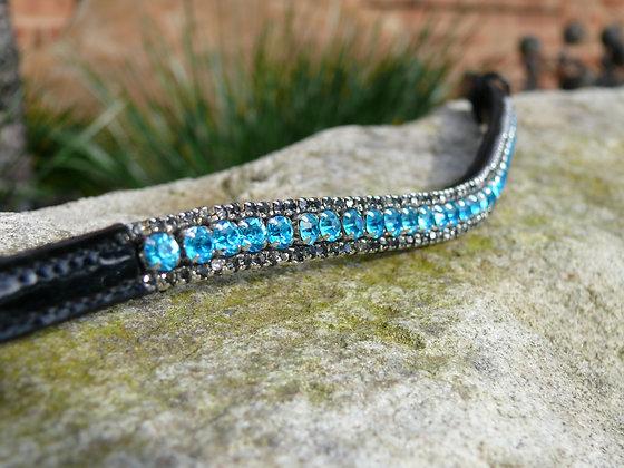 3 Row: Blue/Black Diamond edging